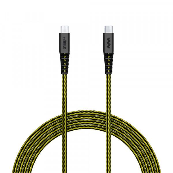 SoSkild Oplaadkabel USB-C naar USB-C - Levensduur van 22 jaar - 1,5 m - Zwart Geel