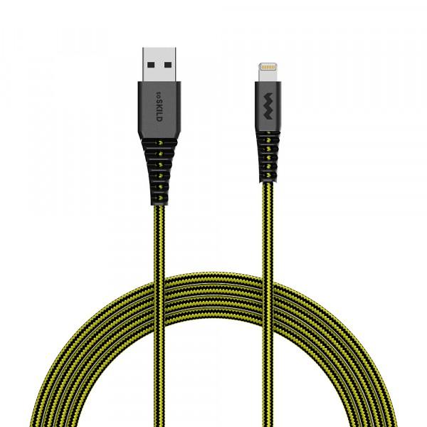 SoSkild iPhone Kabel Lightning - Levensduur van 22 jaar - 1,5 m - Zwart / Geel
