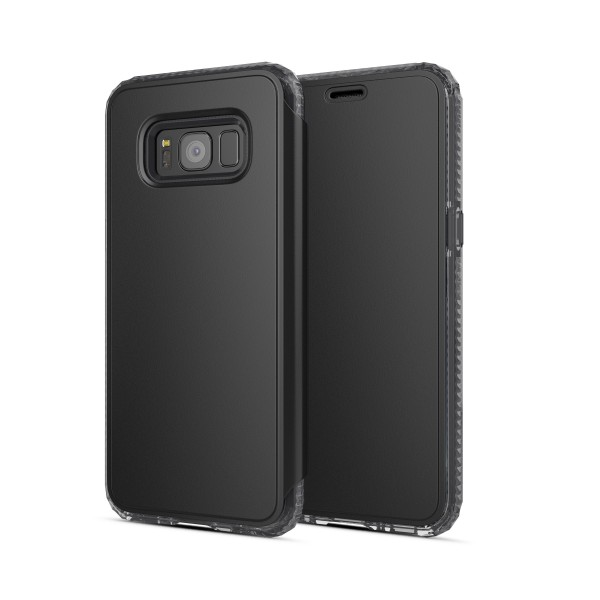 SoSkild Defend Wallet Case Zwart voor Samsung Galaxy S8