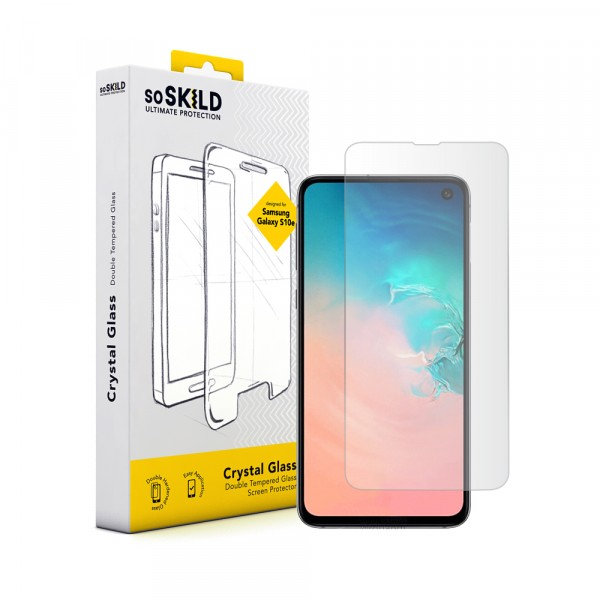 SoSkild Samsung Galaxy S10e Full Glue Tempered Glass Screen Protector Black