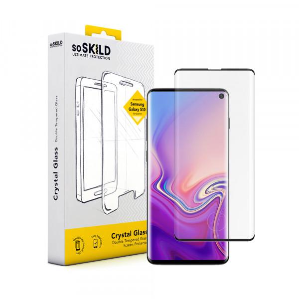 SoSkild Samsung Galaxy S10 Crystal Double Tempered Glass Screenprotector Zwart