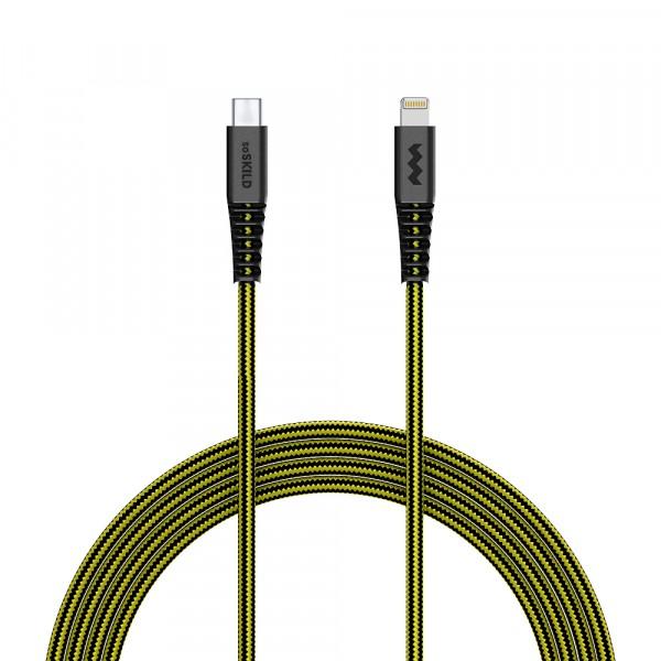 SoSkild iPhone USB-C - Lightning Oplaadkabel 1.5m - Zwart / Geel