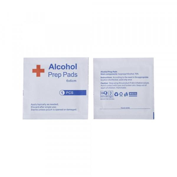 Alcohol doekjes 70-75% - 6x6 cm - 100 stuks