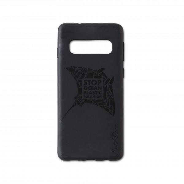 Wilma Smartphone Eco Case Bio Degradeable Tone-in-Tone Matte Manta Black voor Samsung Galaxy S10+
