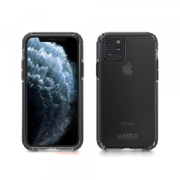 SoSkild iPhone 11 Pro Hoesje Defend Heavy Impact Case - Smokey Grey