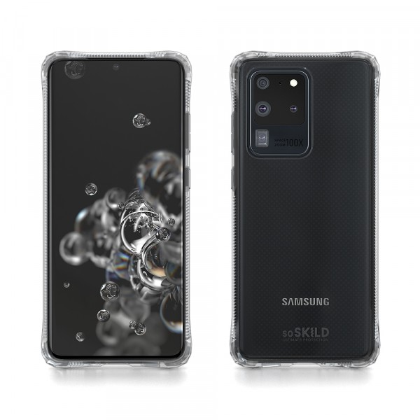 SoSkild Samsung Galaxy S20 Ultra Absorb 2.0 Impact Case Transparent