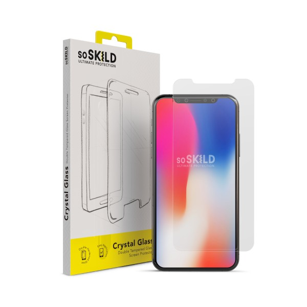 iPhone X/XS Crystal Double Tempered Glass Screen Protector