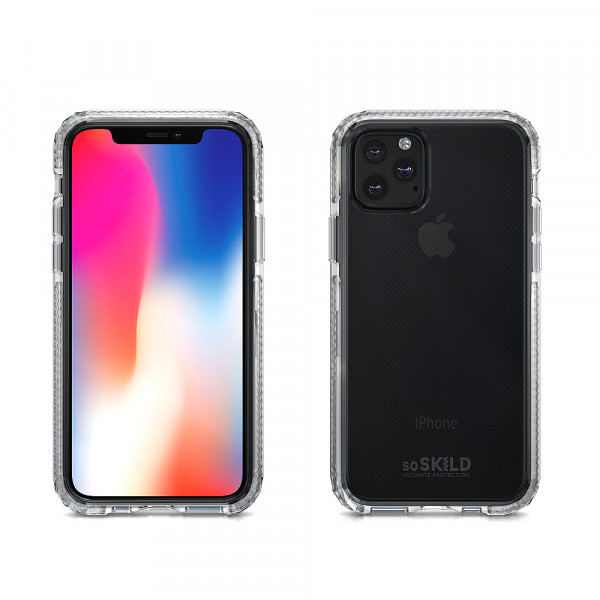 SoSkild iPhone 11 Pro Max Hoesje Defend Heavy Impact Case Transparant