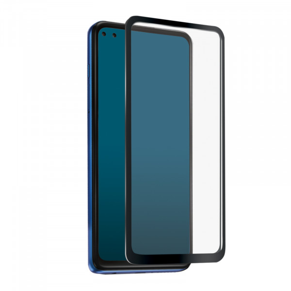 SBS Motorola Moto G 5G Plus Full Cover High Impact Glass Screen Black