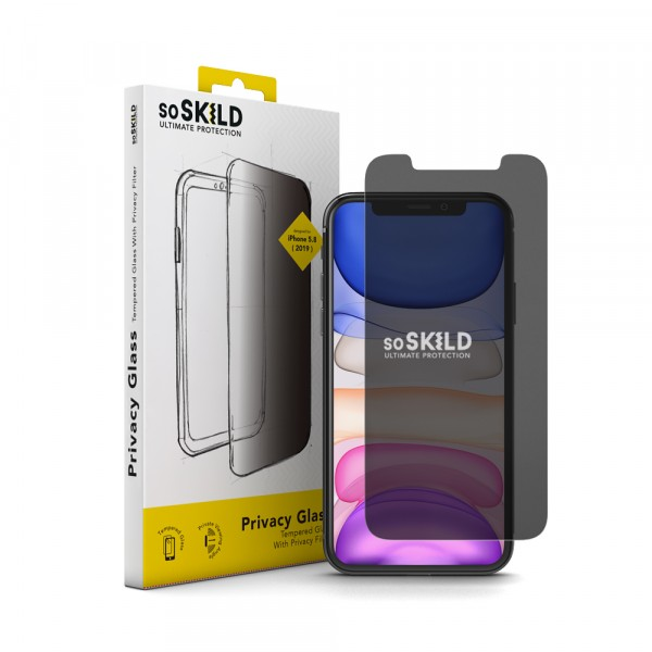 SoSkild iPhone 11 Pro Crystal Glass Privacy