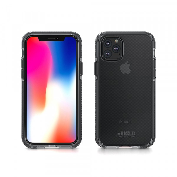 SoSkild iPhone 11 Pro Max Hoesje Defend Heavy Impact Case - Smokey Grey