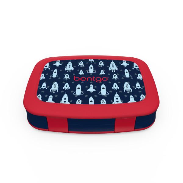 Bentgo Kids Lekvrije Bento Lunchbox - Raket Print - 5 Compartimenten - Warm en Koud