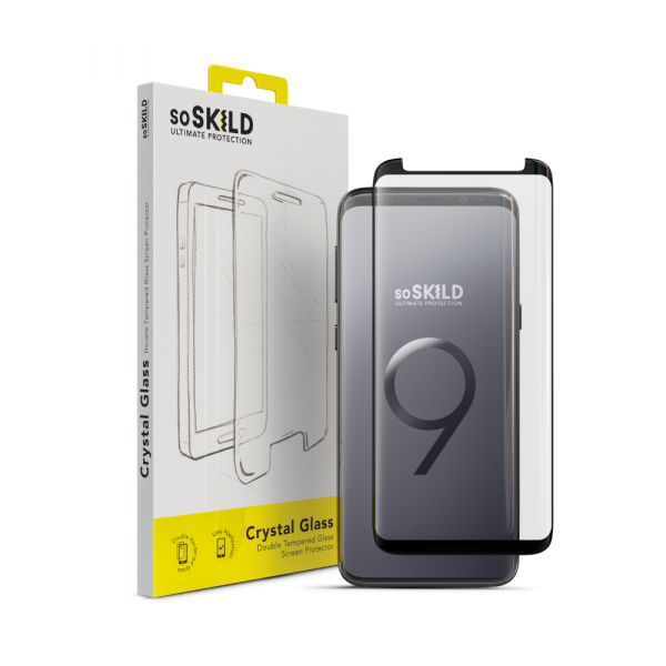 SoSkild Edge to Edge Tempered Glass Screenprotector voor Samsung Galaxy S9